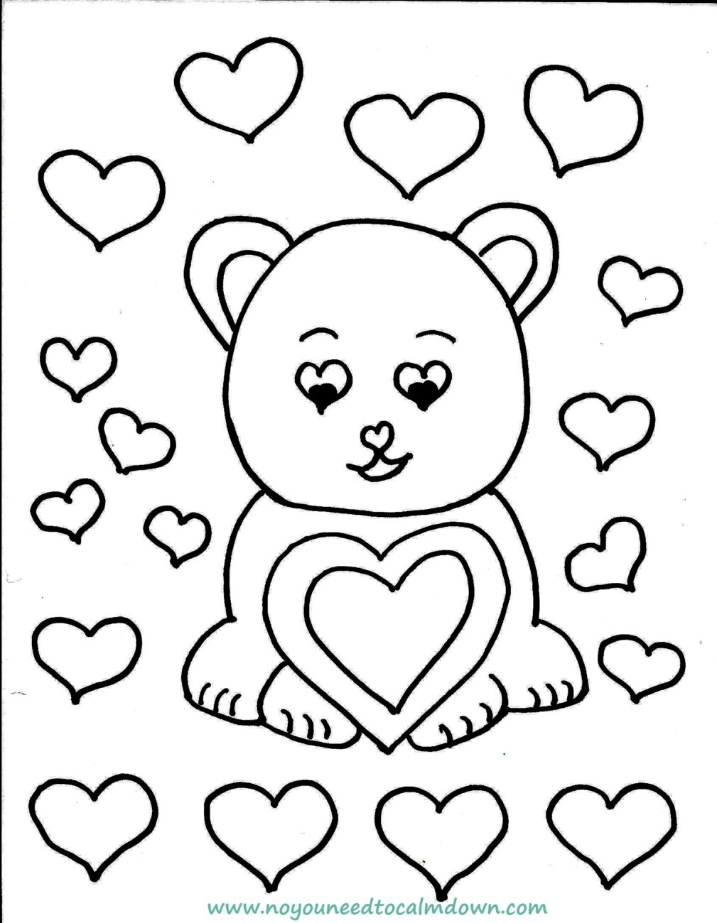 care bear valentines coloring pages-#22