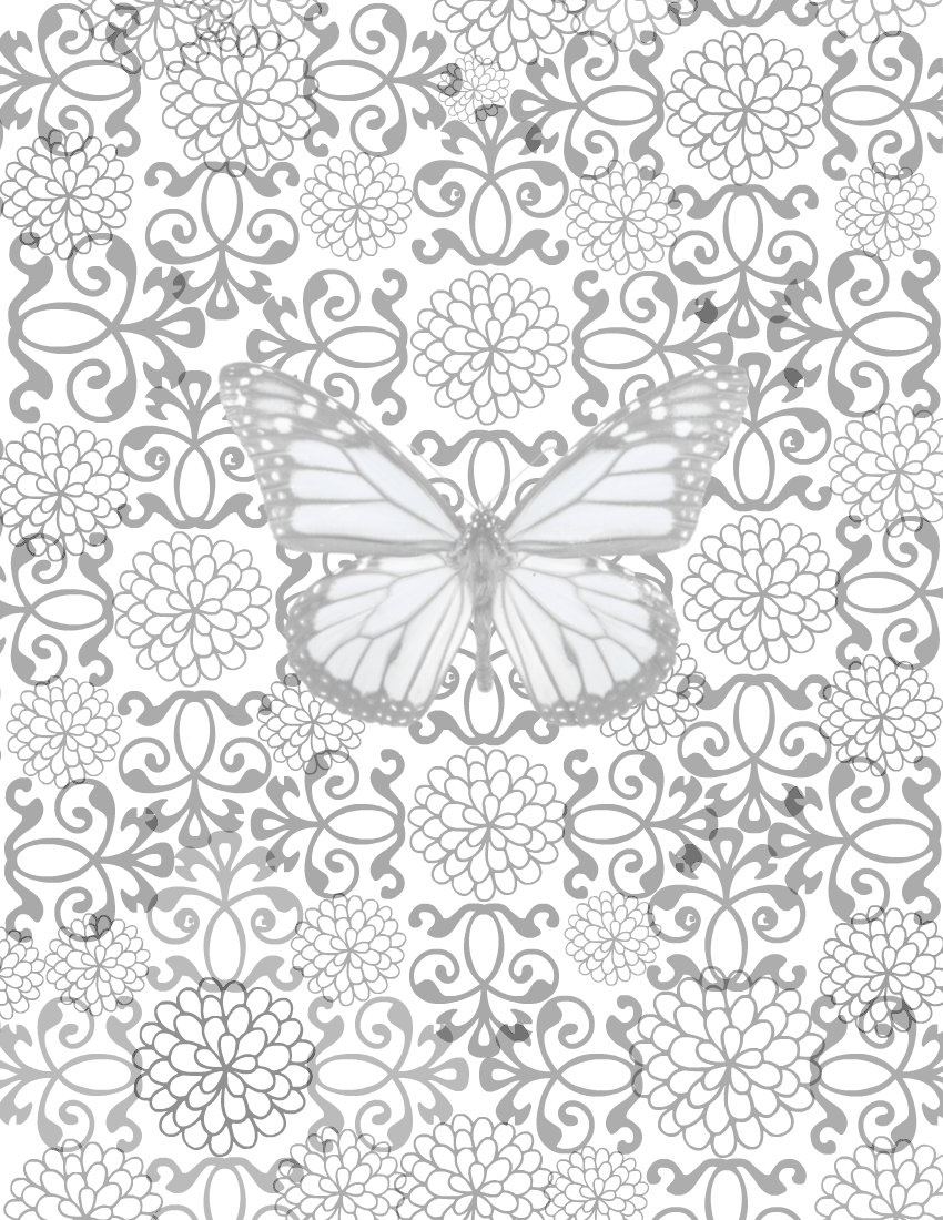 free printable coloring page blossoming butterfly no