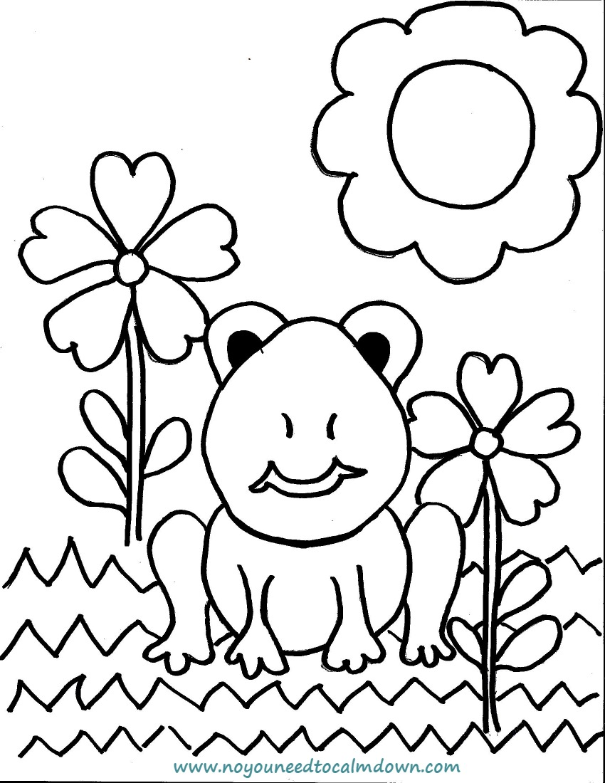 I need coloring pages ~ Spring Frog Coloring Page for Kids - Free Printable   No ...