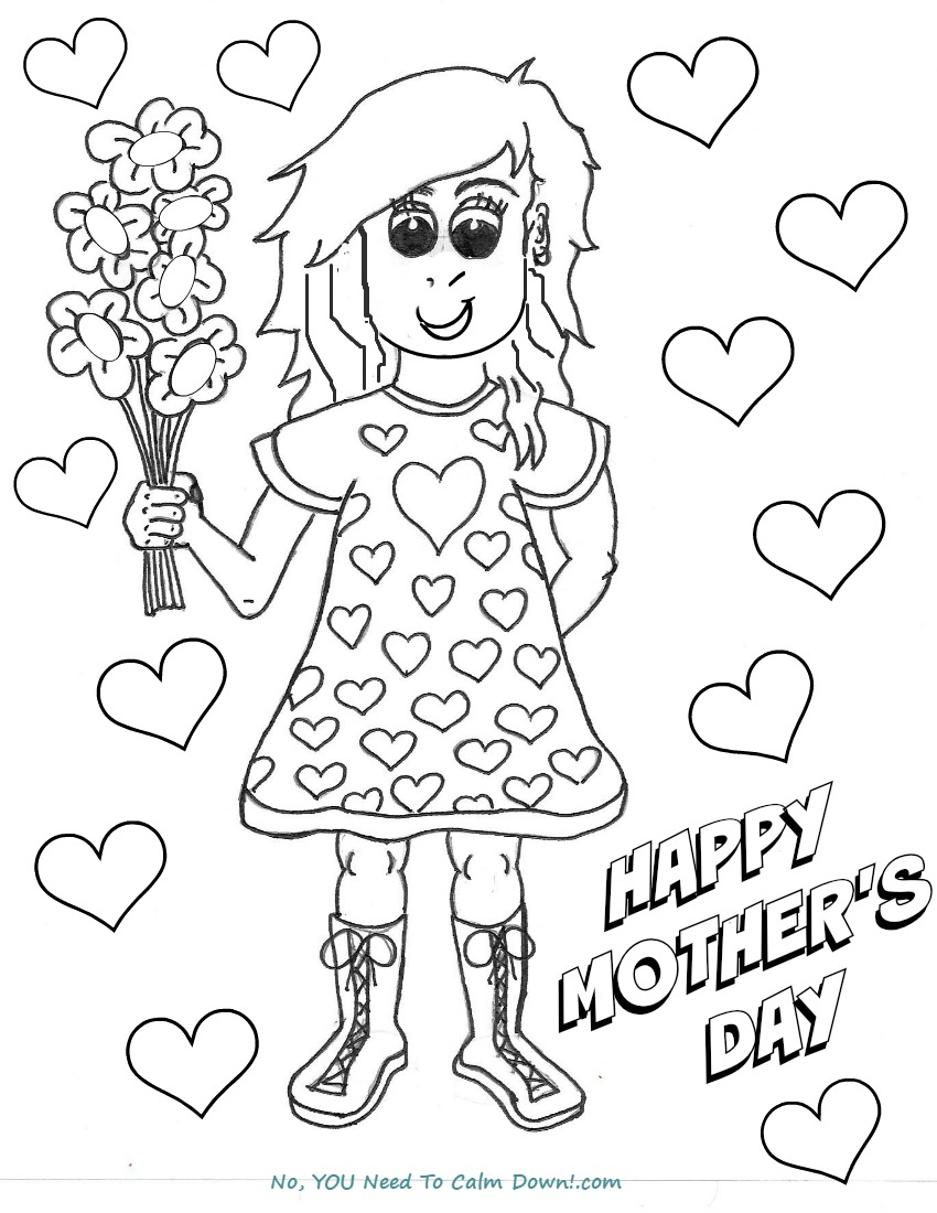 Girl With Flowers Mother 39 s Day